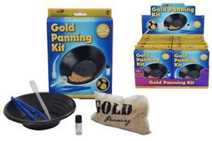 6 X Gold Panning Kit Mining Educational Science Toy Kit Fun Gift Activity Set