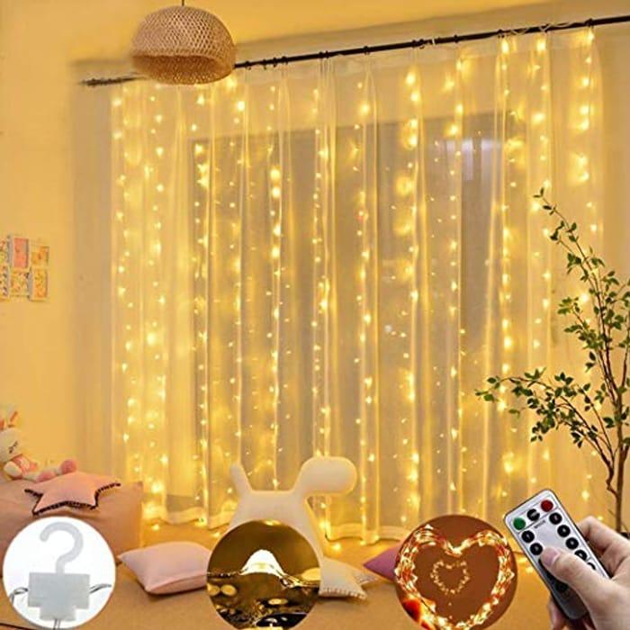 300 LED Indoor/outdoor Curtain Fairy Lights