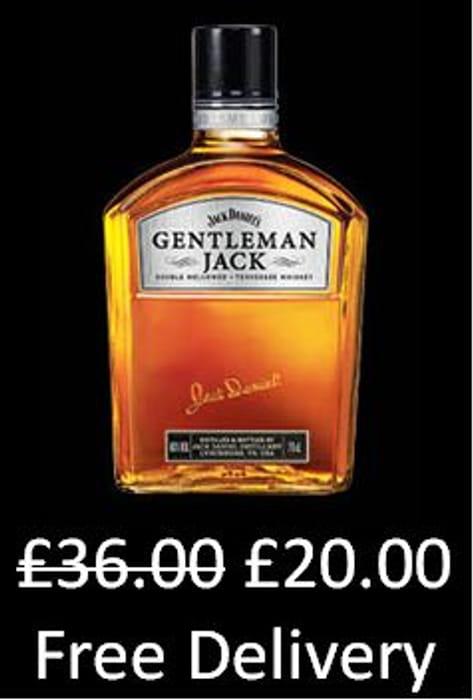 £16 OFF & FREE DEL! Jack Daniel's Gentleman Jack Tennessee Whiskey, 70 cl
