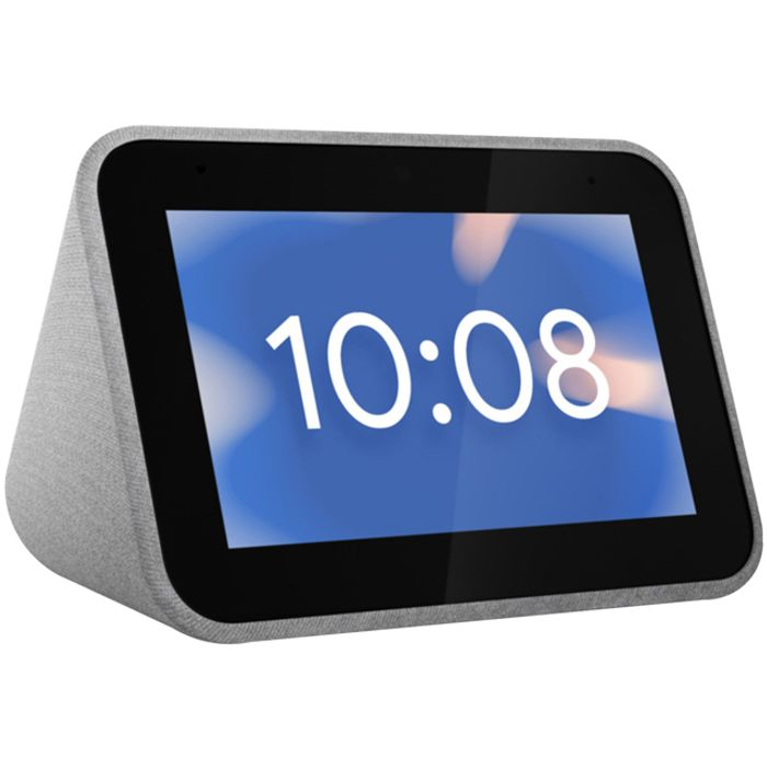 """*SAVE £40* Lenovo Smart Clock with Google Assistant - 4"""" Screen"""