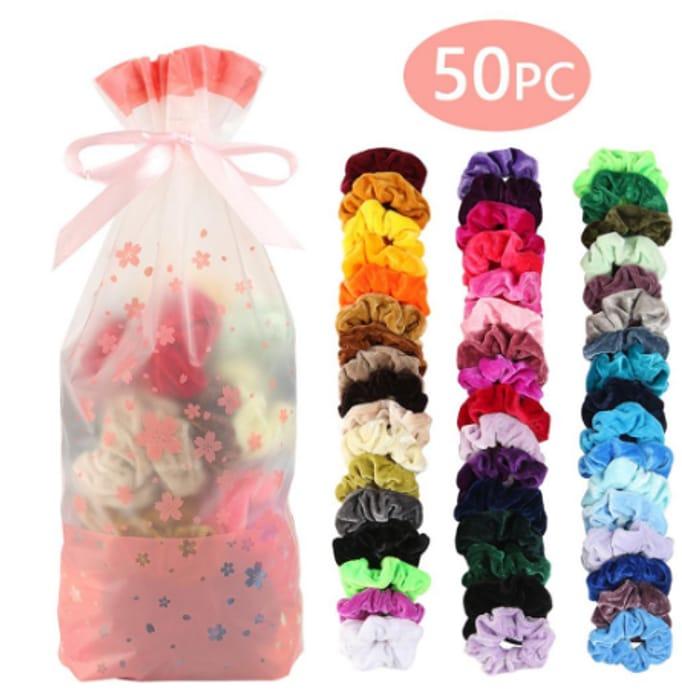 50 Mixed Scrunchies