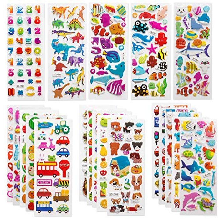 500+ 3D Puffy Stickers