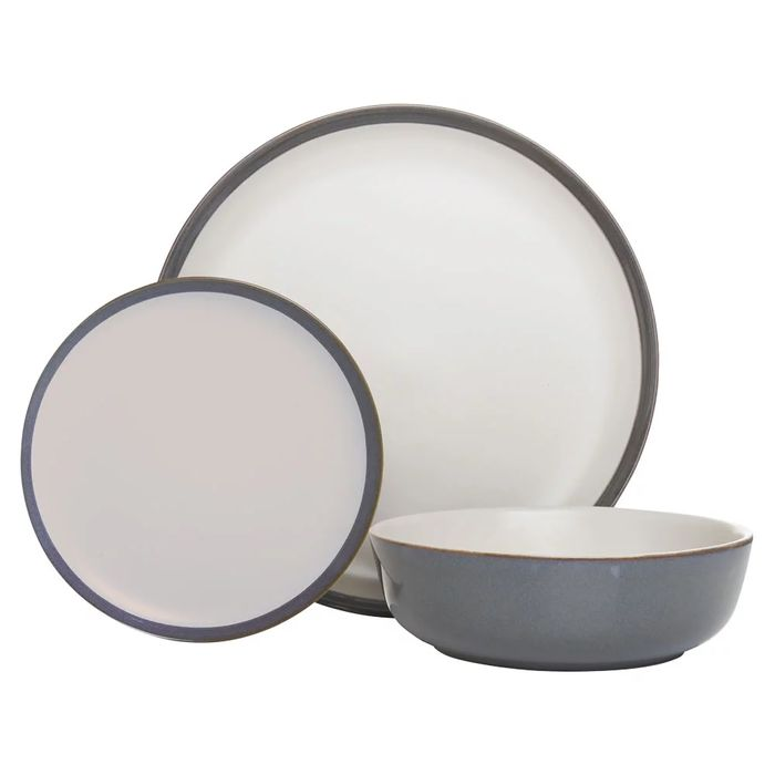 Cheap Wilko 12 Piece Cool Grey Reactive Glazed Dinner Set - Save £4!