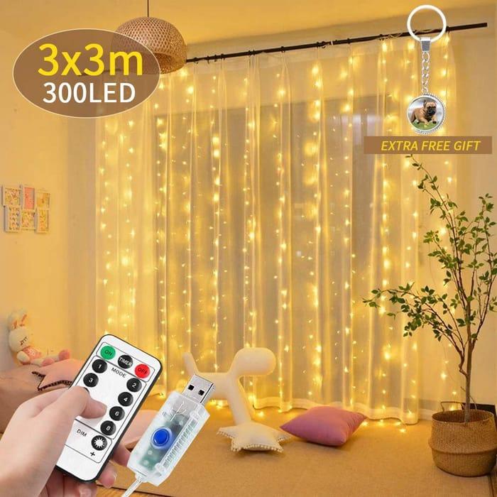 Deal Stack - LED Curtain Lights - 5% off + Lightning Deal