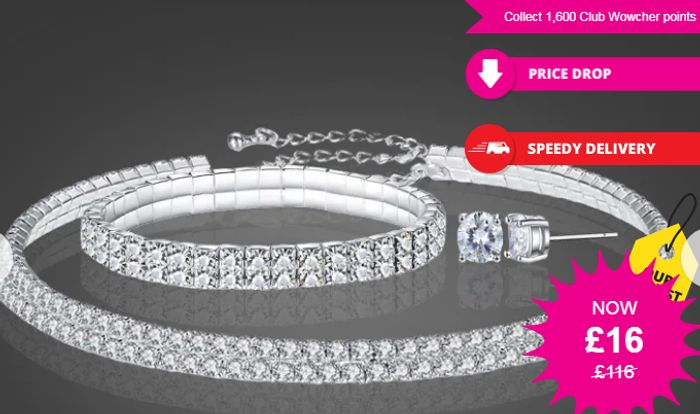 Tri Set Made with Crystals from Swarovski