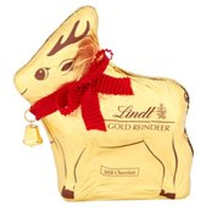 Cheap Lindt Milk Chocolate Gold Reindeer 100g Only £2.5!