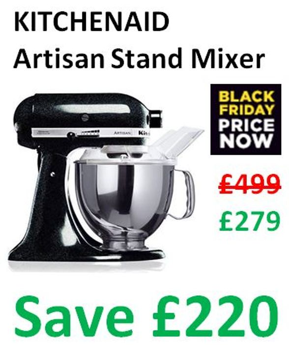 Black Friday Price Now Kitchenaid Stand Mixer Save 220 279 At Currys Pc World Latestdeals Co Uk