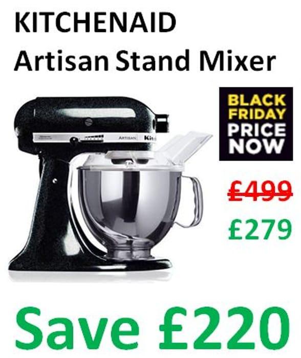 BLACK FRIDAY PRICE NOW! KITCHENAID Stand Mixer - SAVE £220!
