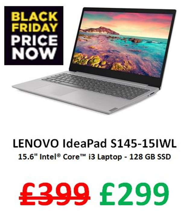 "SAVE £100 - LENOVO IdeaPad 15.6"" Intel Core I3 Laptop - 128 GB SSD"
