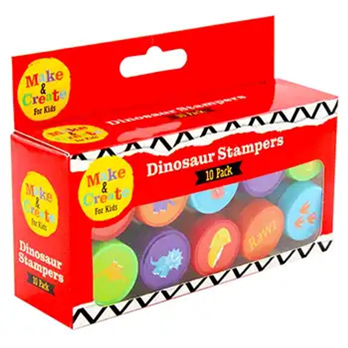 Stampers Pack of 10 (Dinosaur or Unicorn)