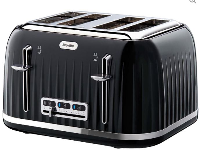 Cheap BREVILLE Impressions VTT476 4-Slice Toaster - Black, Only £25!