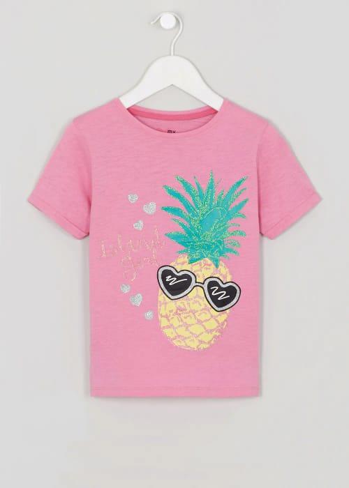 Girls Island Girl Slogan T-Shirt