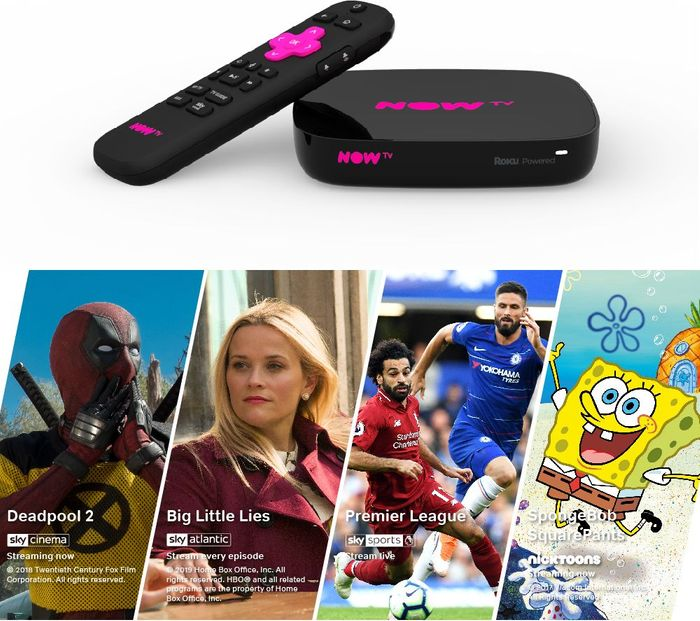 *BLACK FRIDAY DEAL* NOW TV 4K Smart Box with Voice Search 4 NOW TV Pass Bundle