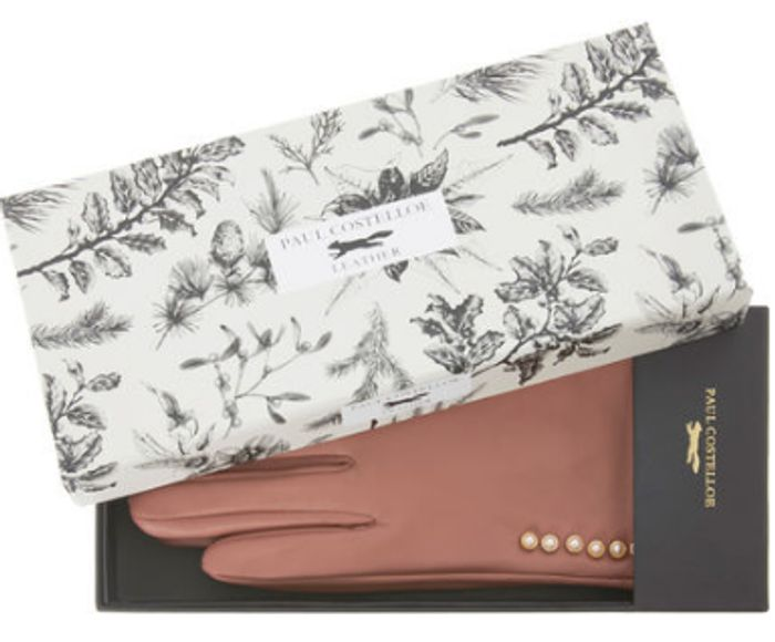 Tk Maxx - Pink Boxed Leather Gloves
