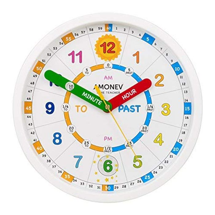 Amonev Time Teacher scope wall Clock at Amazon