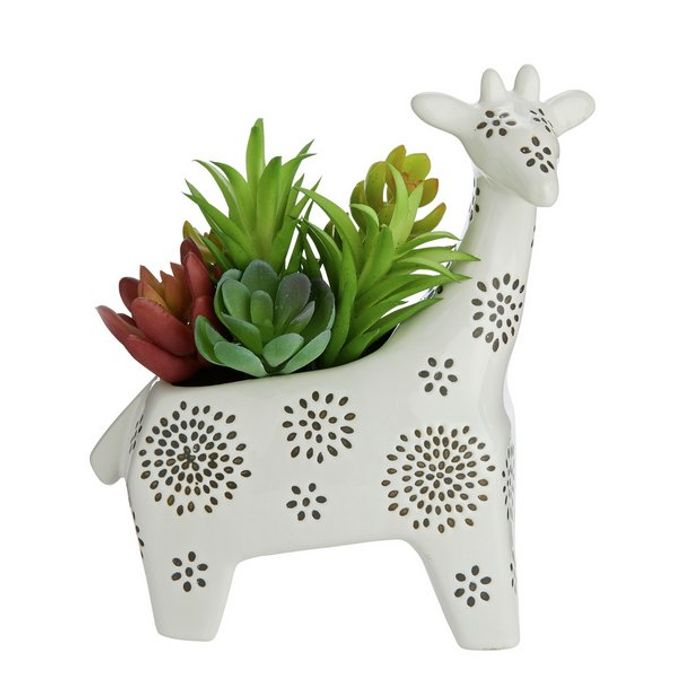 Sainsbury's Home Giraffe Succulent Pot866/8114