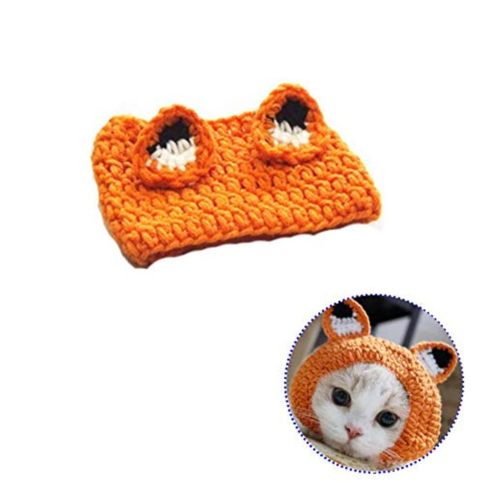 Best Price! Bello Luna Frog Shape Pet Hat Knitted Hat for Cat at Amazon