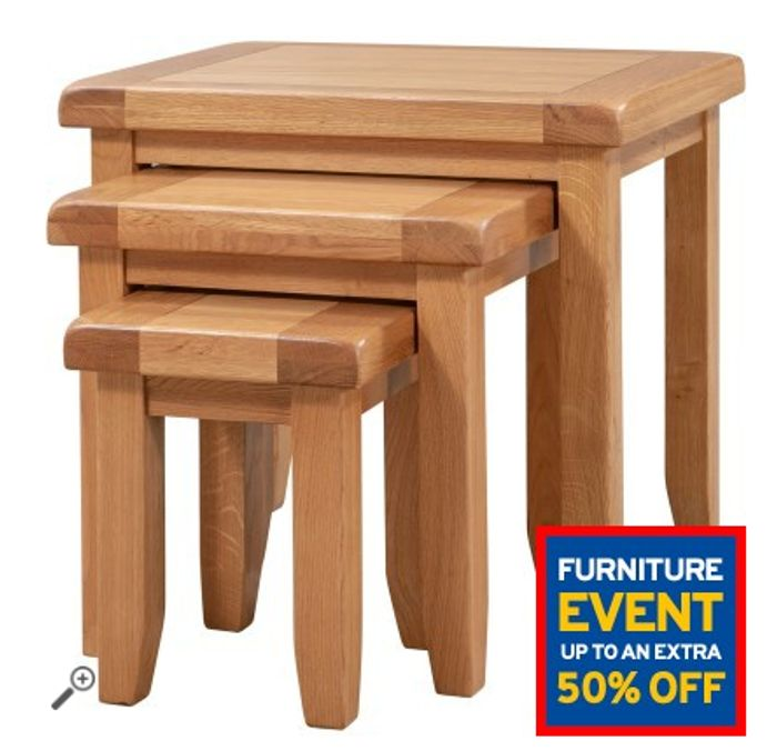 Chatsworth Oak Nest of 3 Tables Only £81.59