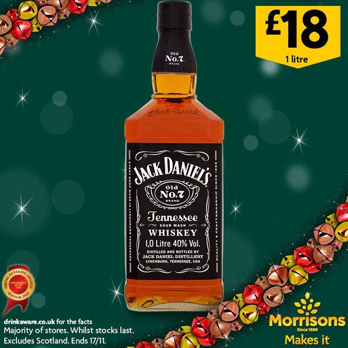 Jack Daniel's Whiskey 1L - 43% Off! Four Days Only at This Price