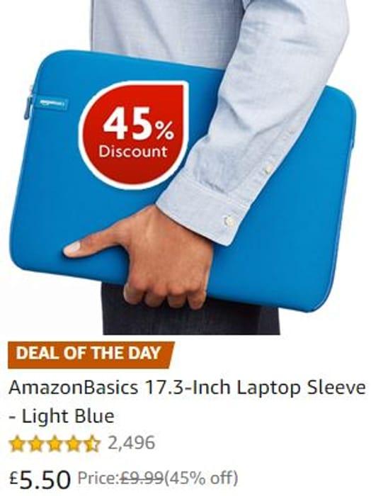 AmazonBasics 17.3-Inch Laptop Sleeve - Light Blue