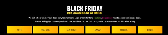 Superdrug Members Only Early Black Friday Deals - Shavers, Make up Sets & More!
