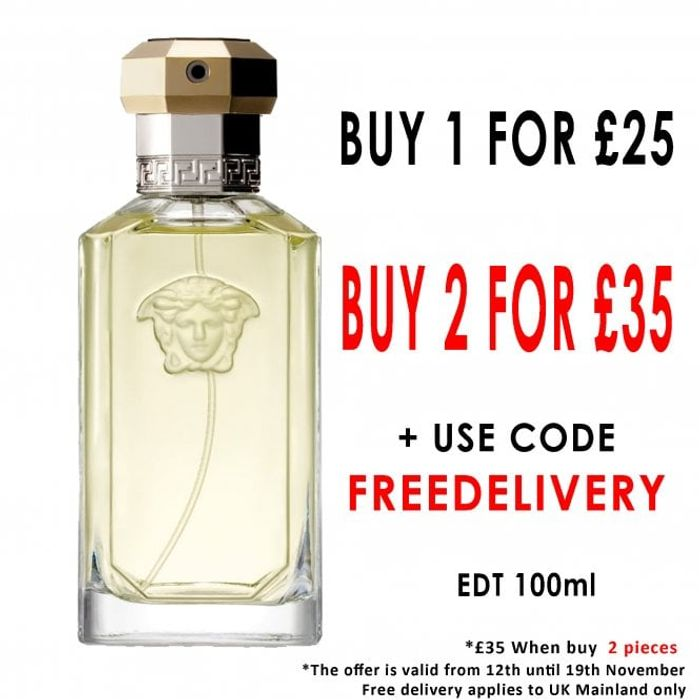 2 for £35 VERSACE the Dreamer Eau De Toilette 100ml Spray