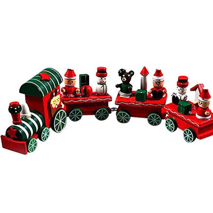 Cheap Wooden Christmas Train Decoration at Amazon, Only £3.99!