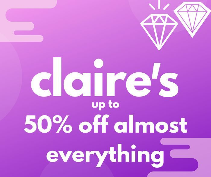 Exclusive Claire's Discount Code - 50% Off Almost Everything