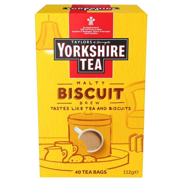 Yorkshire Tea Malty Biscuit Brew 40 Tea Bags 112G