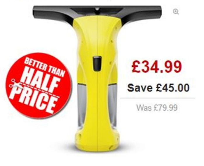 KARCHER WV 1 Plus Window Vacuum Cleaner on Sale From £79.99 to £34.99