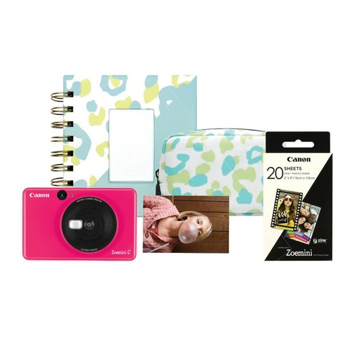 Canon Zoemini C Sticker Instant Camera Bundle - Pink