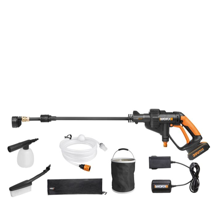 Worx WG629E.1 20v Hydroshot Cordless Pressure Washer with Accessories