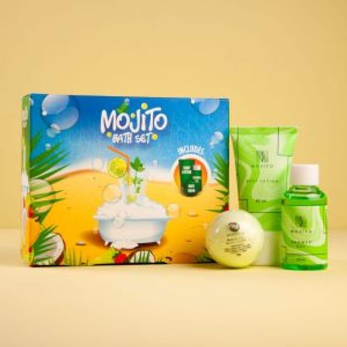 Cheap Mojito Bath Gift Set Bath Bomb Shower Gel Body Lotion, Only £2.99!