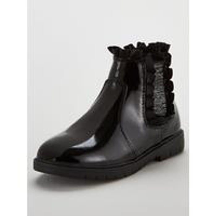 Girls Glitter Black Boots - Save £8!