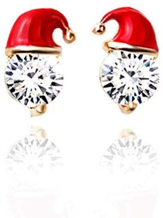 Christmas Earrings for Girls,Fashionable Santa Christmas Hat