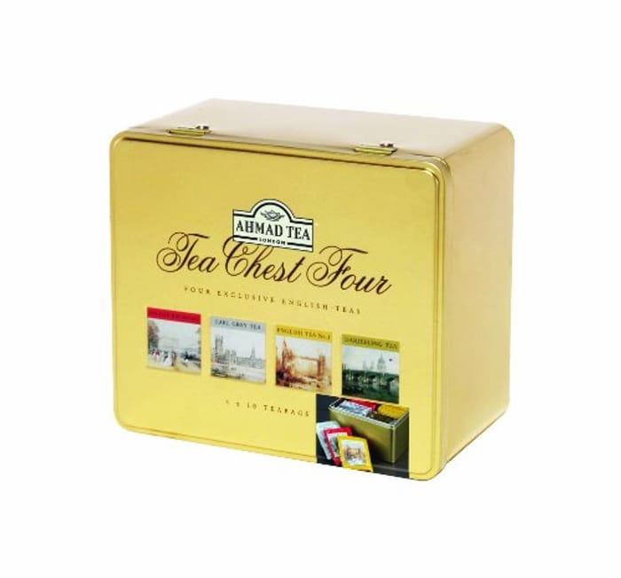 Ahmad Tea Tea Chest Four (Total 40 Enveloped Tea Bags)