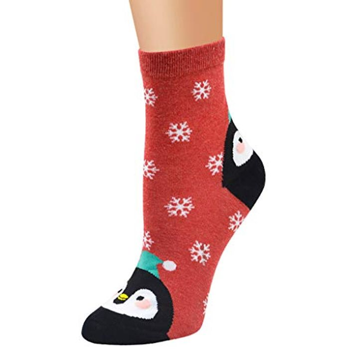 Ladies Festive Christmas Socks 1p (£1.99 delivery)