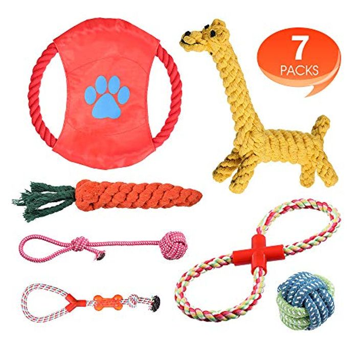 Rimila Puppy Dog Chew Toys Teething Training for Small and Medium Dogs