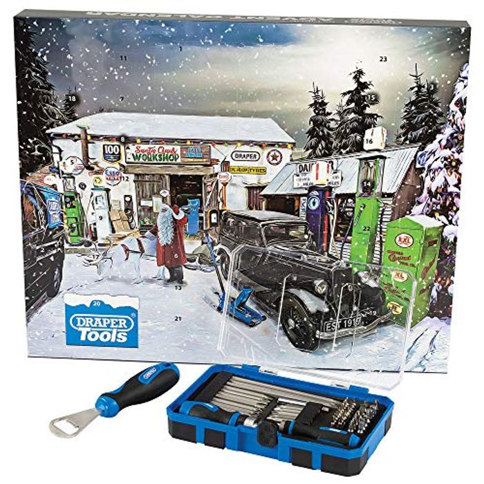 Draper 90461 55 Piece Tool Advent Calendar, Blue
