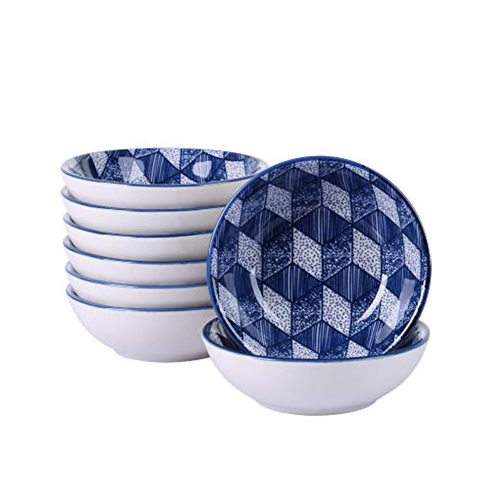 8 Pieces Dishes Set Hand Painted