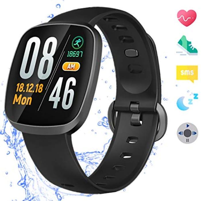 Amazqi Smart Watches, Fitness Tracker Touch Screen Smartwatch Waterproof