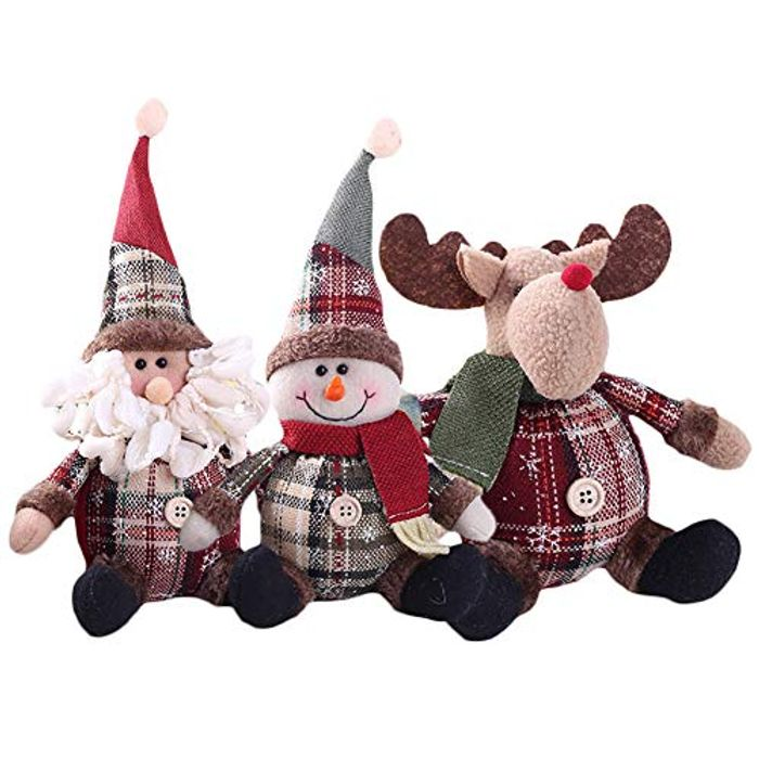 3Pcs Santa Snowman Elk Decorations P&p Included in Price