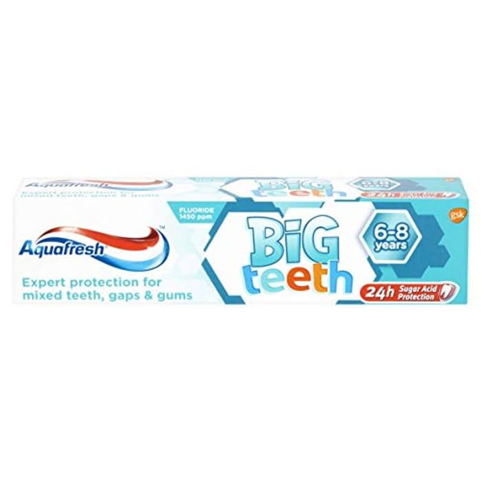 Aquafresh Big Teeth 6-8 Years Kids Toothpaste, 50 Ml