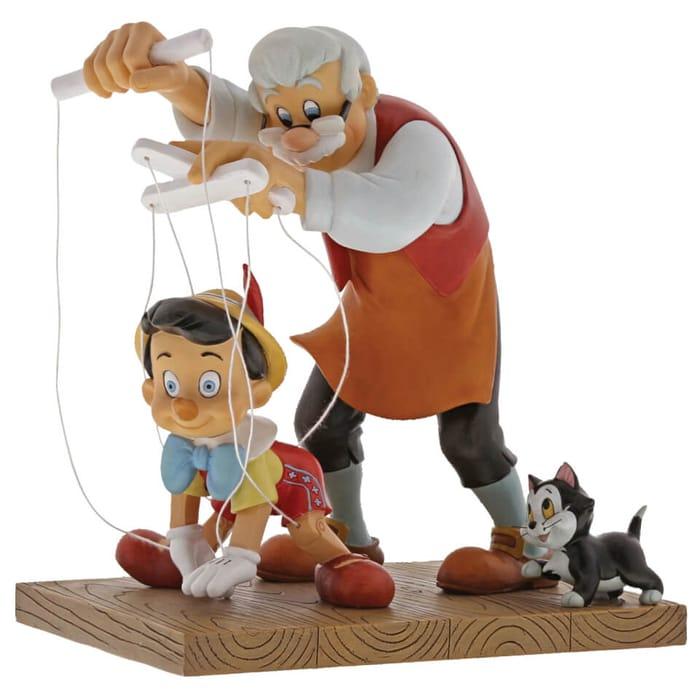 Enchanting Disney Little Wooden Head Pinocchio Figurine