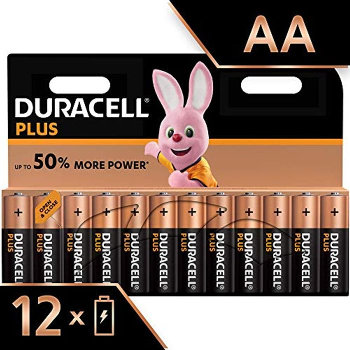 Best Price! Duracell plus AA Alkaline Batteries - Pack of 12 at Amazon
