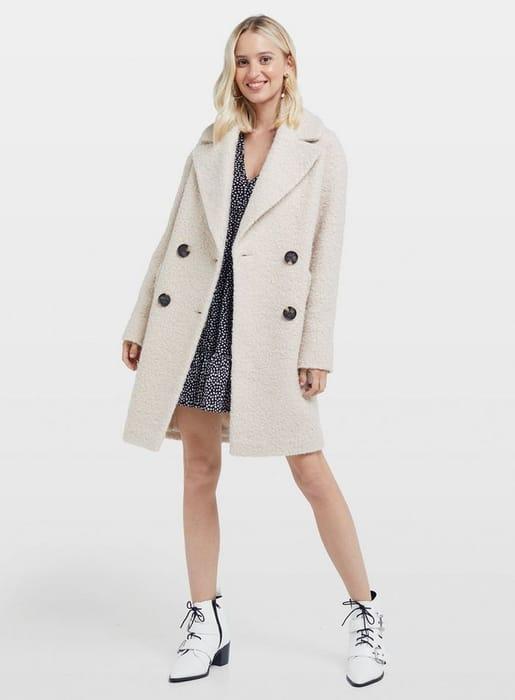 Sienna Cream Boucle Coat.