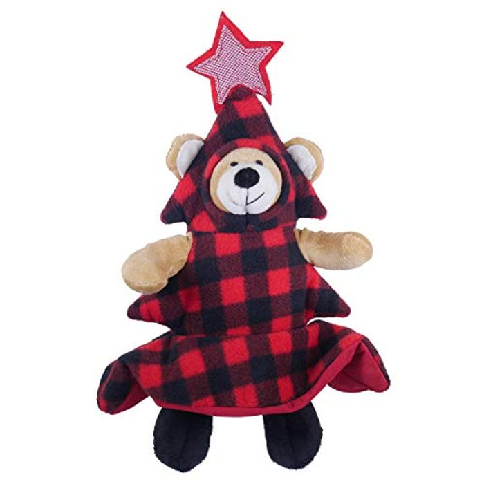 Rosewood Squeaky Bauble Bear