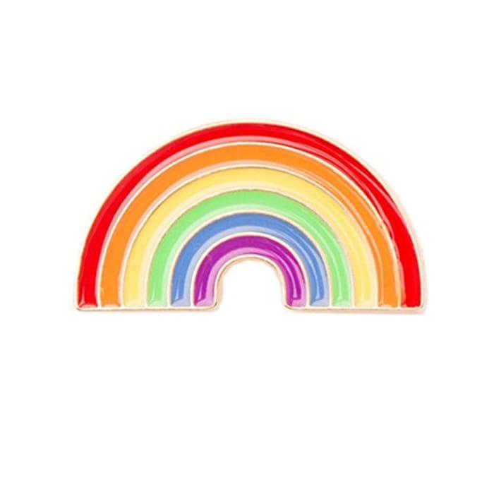 Rainbow Metal Enamel Pin Badge Only £1.28
