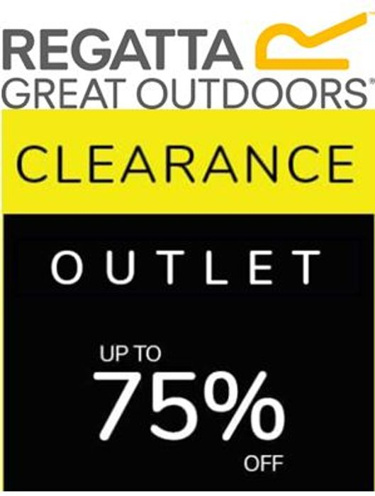 Regatta Clearance Outlet Bargains - up to 75% OFF