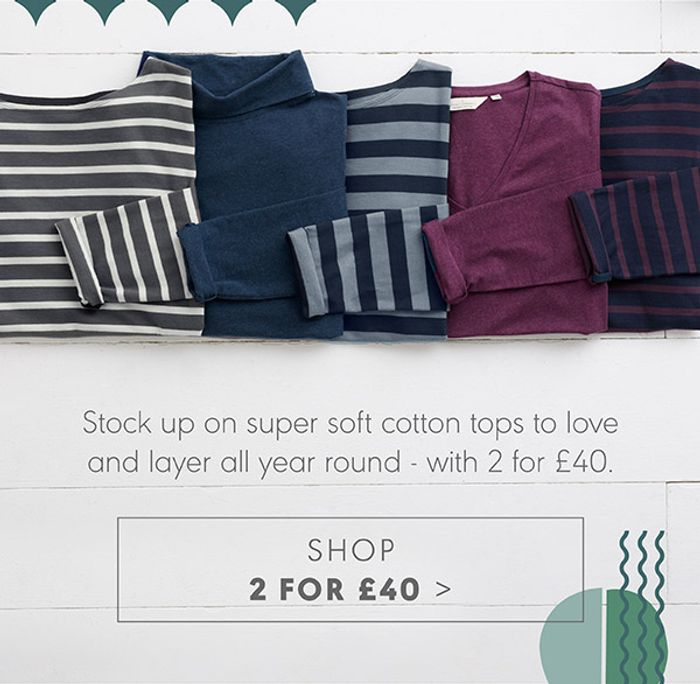 Mix and Match Two Organic Cotton Sailor Shirts and Plain Cotton Tops for £40